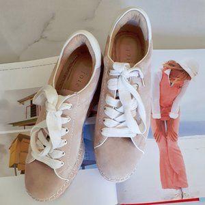 NWOT Joie Dabna suede platform espadrille sneakers